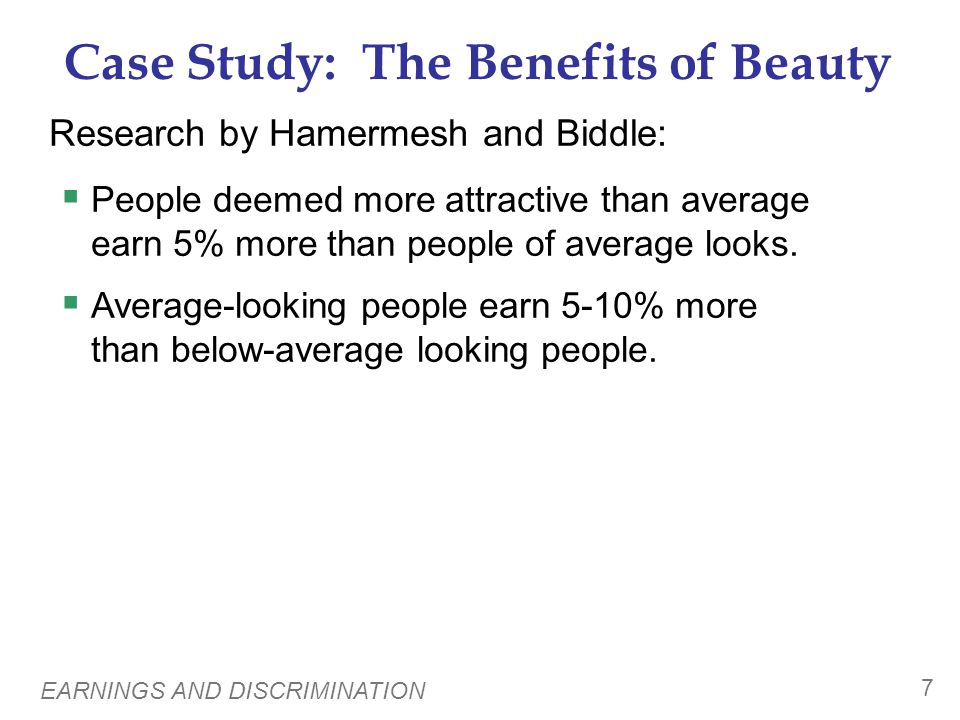 Case Study: The Benefits of Beauty