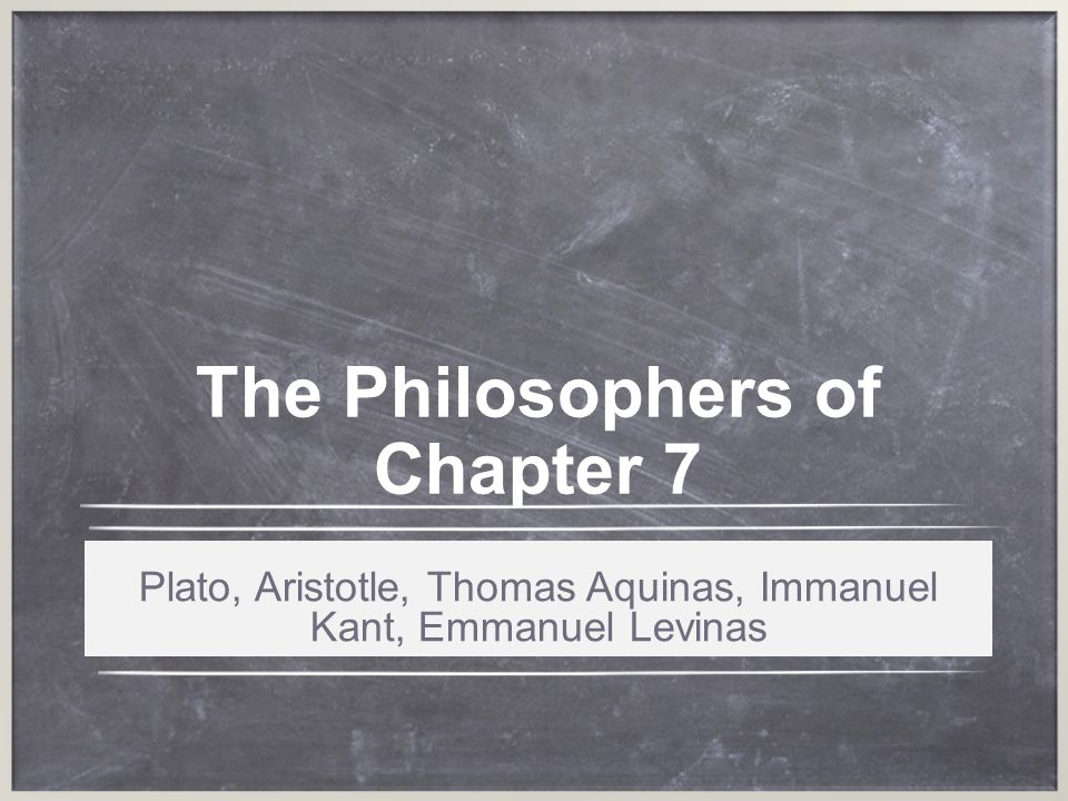 The Philosophers of Chapter 7