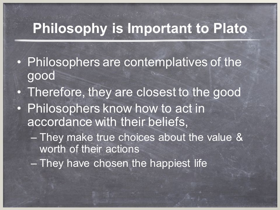 Philosophy is Important to Plato