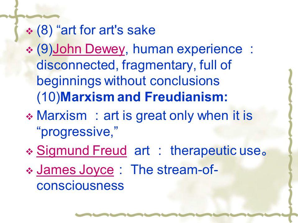 (8) art for art s sake