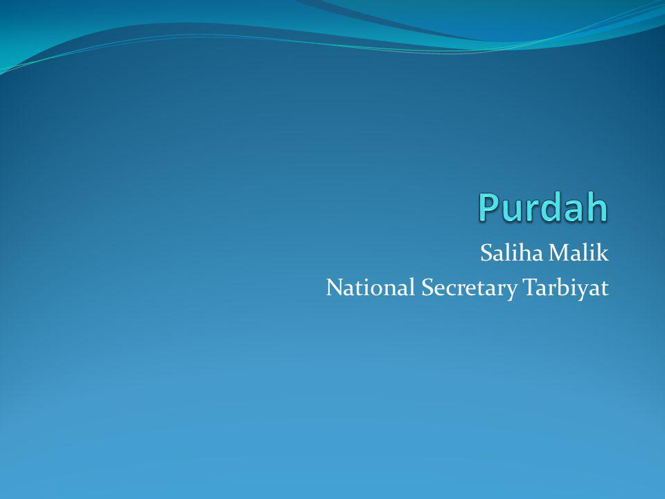 Saliha Malik National Secretary Tarbiyat