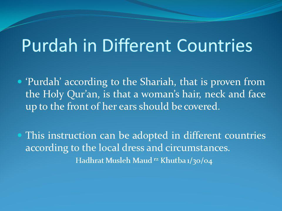 Purdah in Different Countries