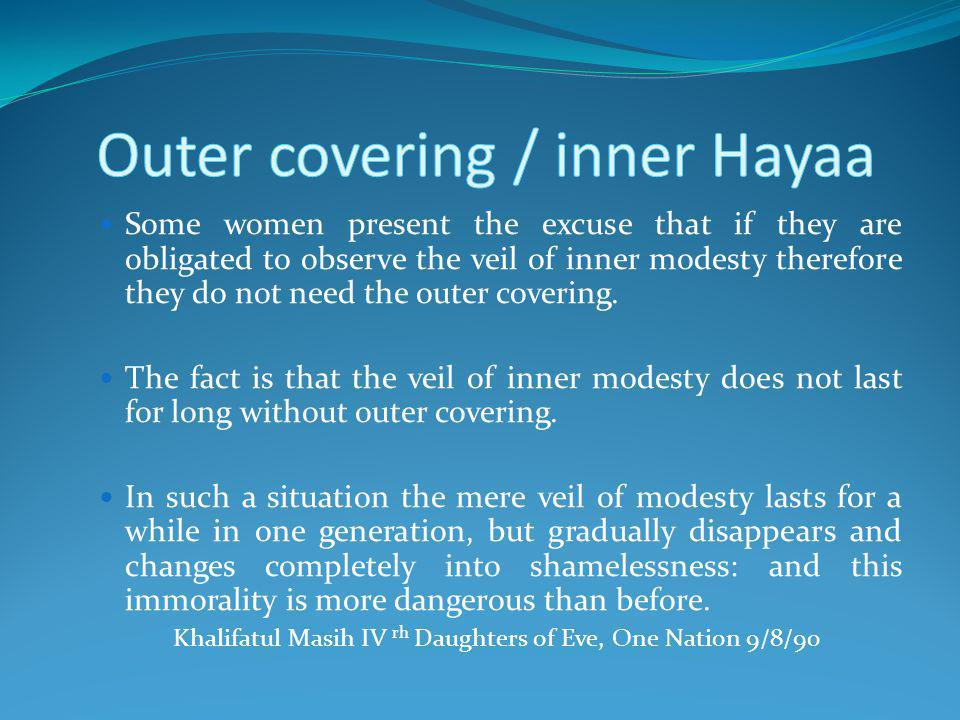Outer covering / inner Hayaa