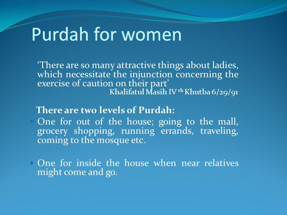 Purdah for women