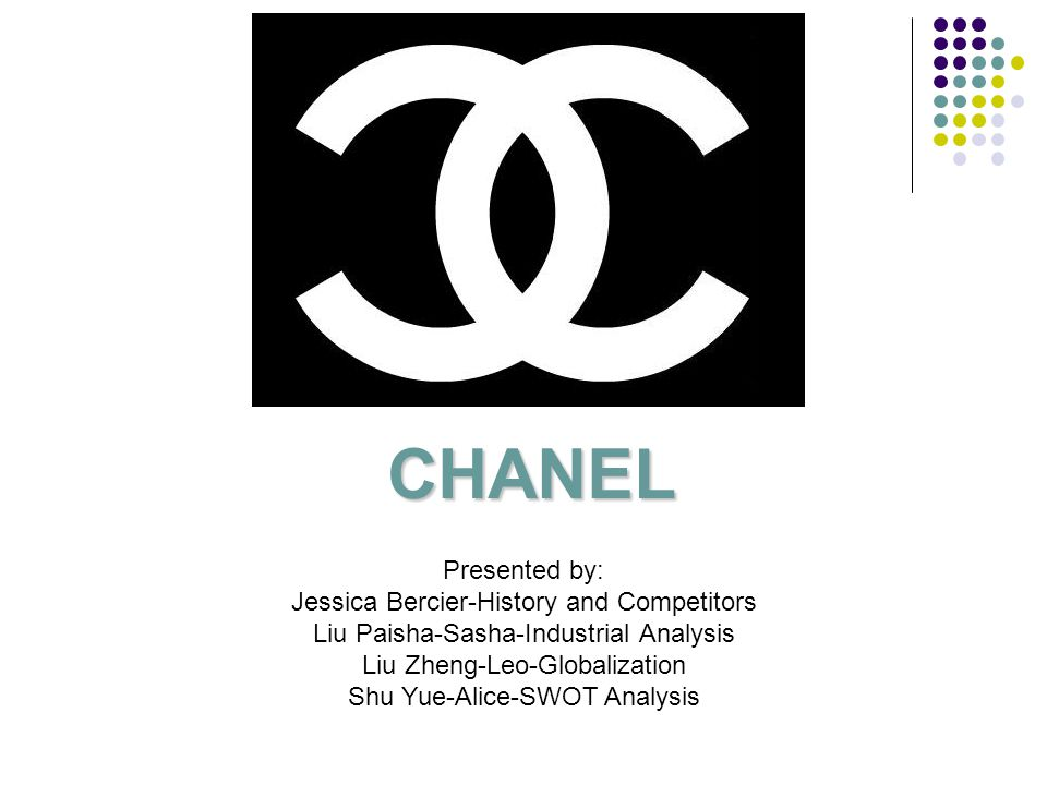 CHANEL Presented by: Jessica Bercier-History and Competitors