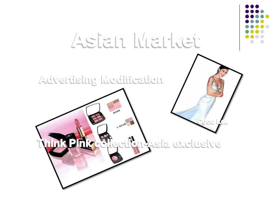 Advertising Modification Think Pink collection-Asia exclusive