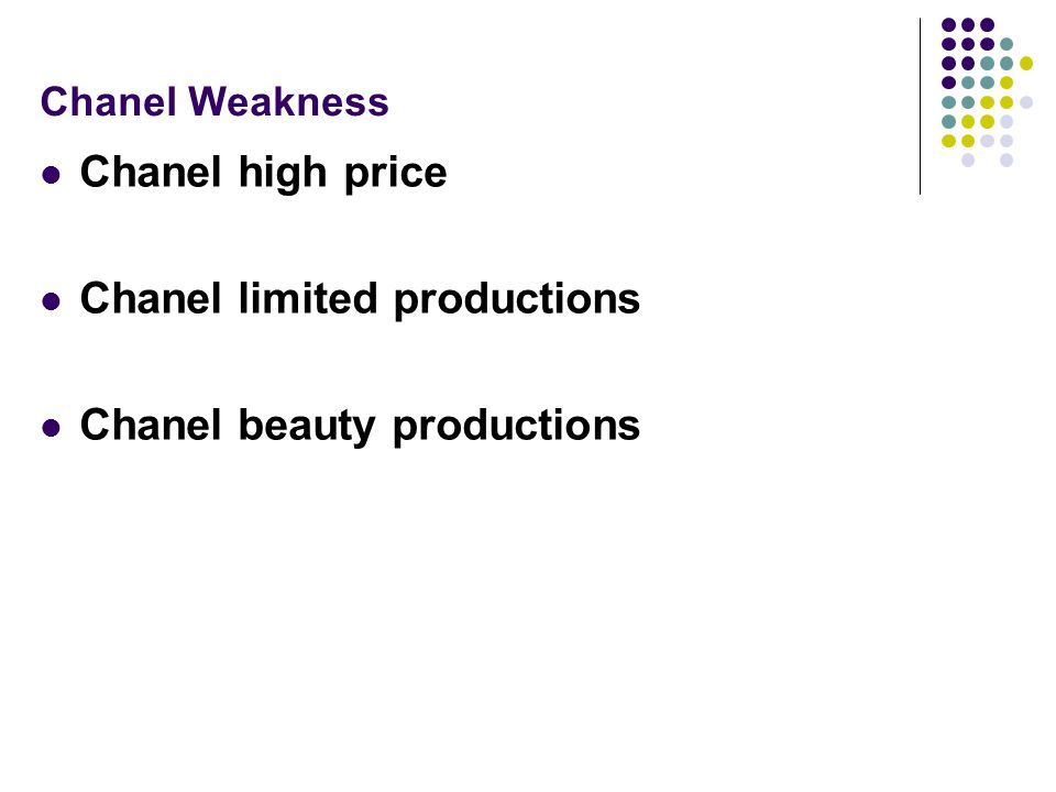 Chanel limited productions Chanel beauty productions