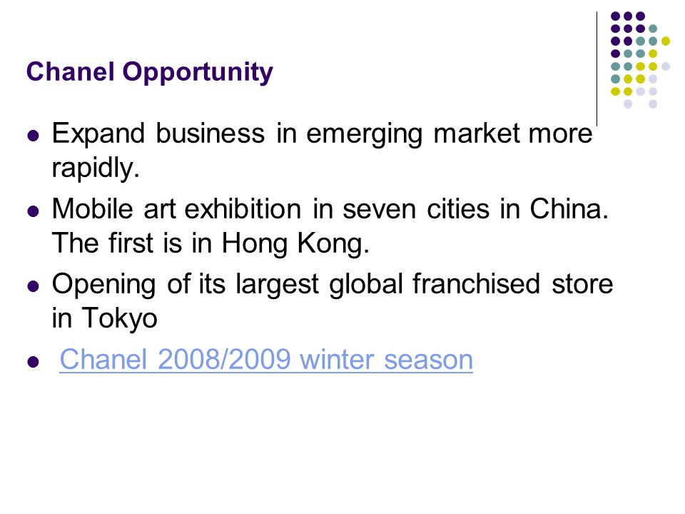 Expand business in emerging market more rapidly.