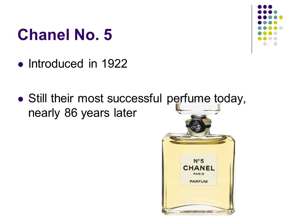 Chanel No. 5 Introduced in 1922