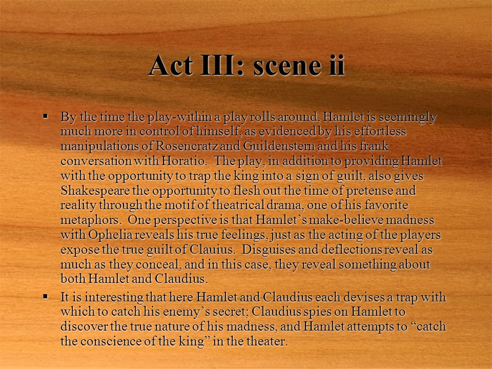 Act III: scene ii