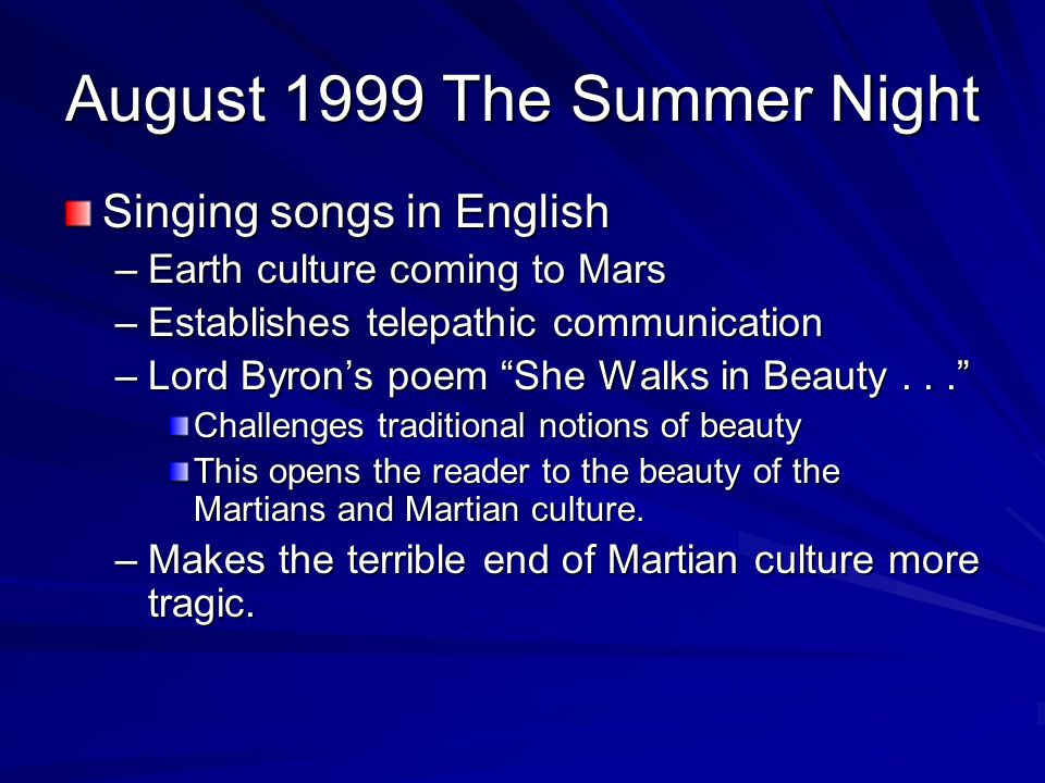 August 1999 The Summer Night