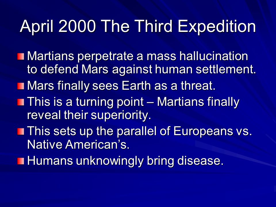 April 2000 The Third Expedition