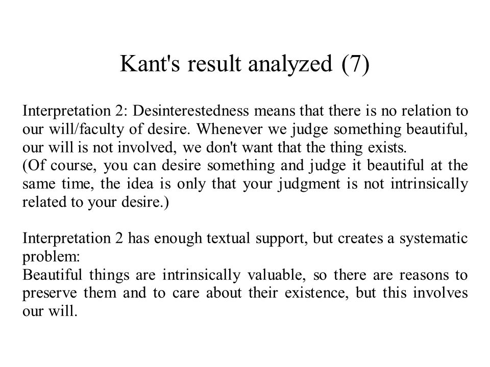 Kant s result analyzed (7)