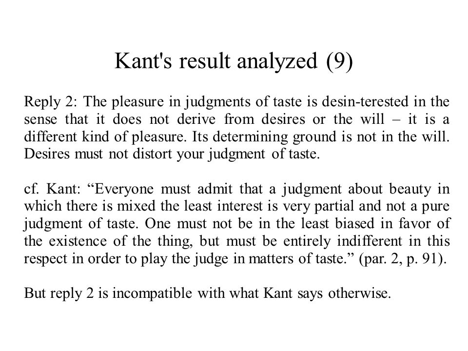 Kant s result analyzed (9)