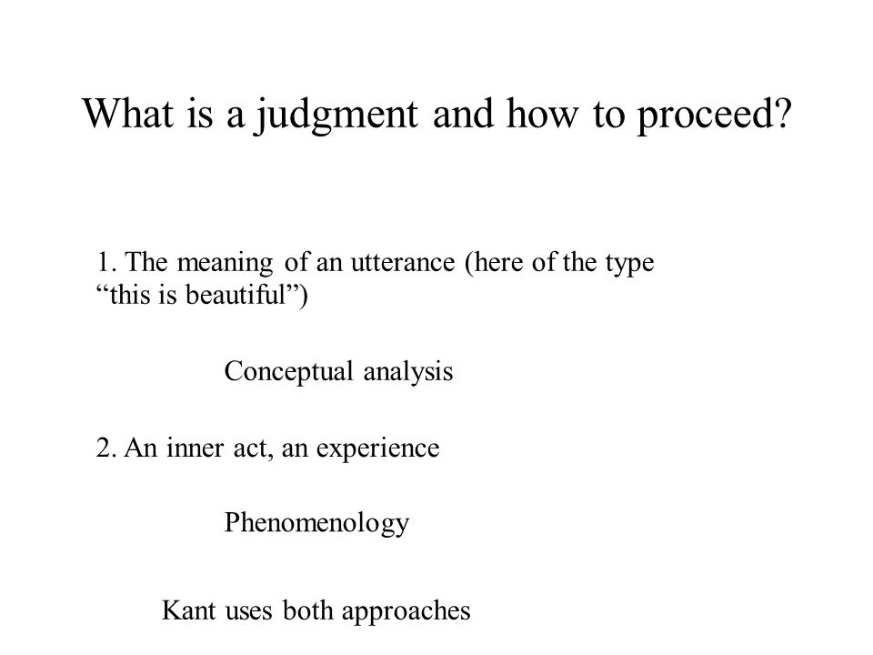 What is a judgment and how to proceed