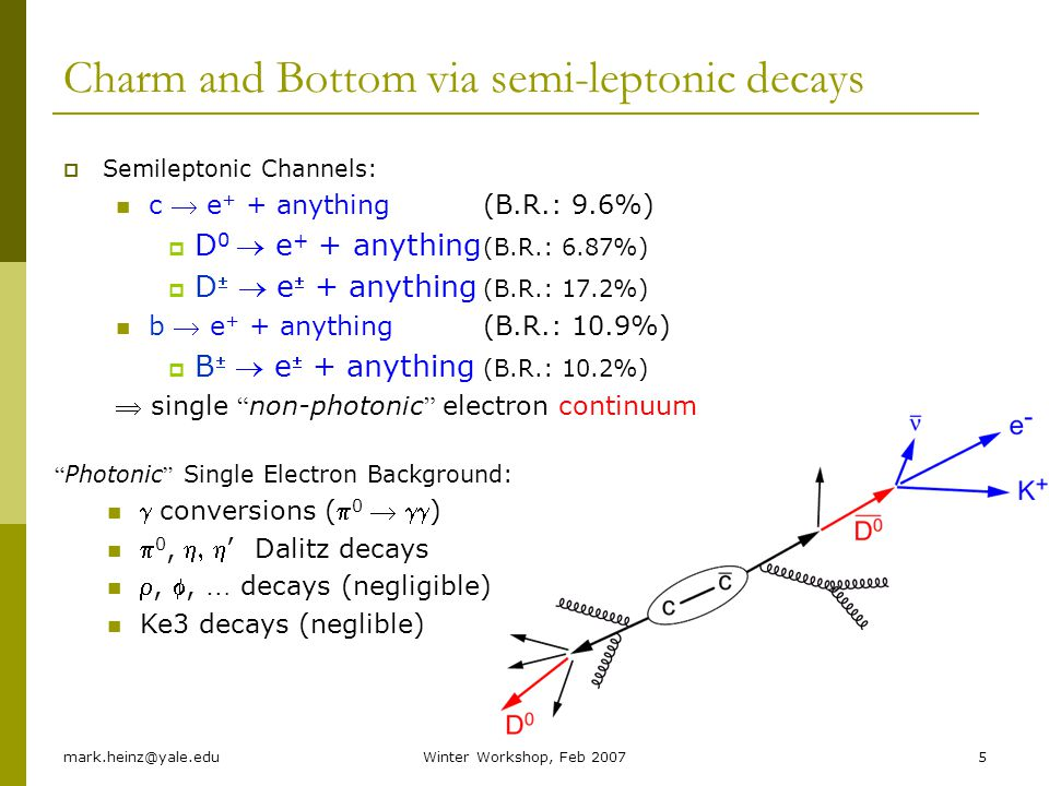 Charm and Bottom via semi-leptonic decays