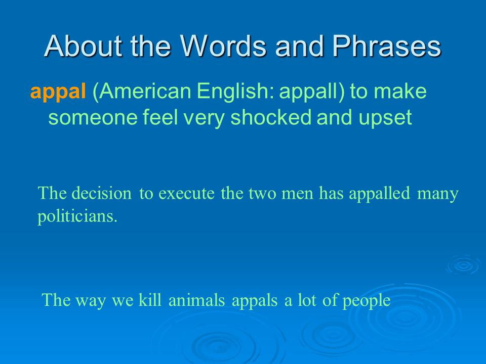 About the Words and Phrases