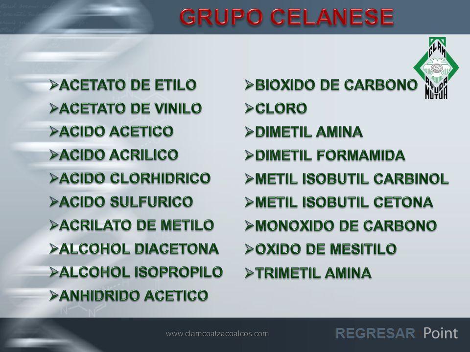 GRUPO CELANESE ACETATO DE ETILO BIOXIDO DE CARBONO ACETATO DE VINILO