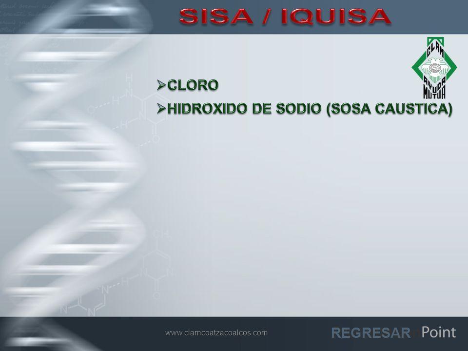 SISA / IQUISA CLORO HIDROXIDO DE SODIO (SOSA CAUSTICA) REGRESAR