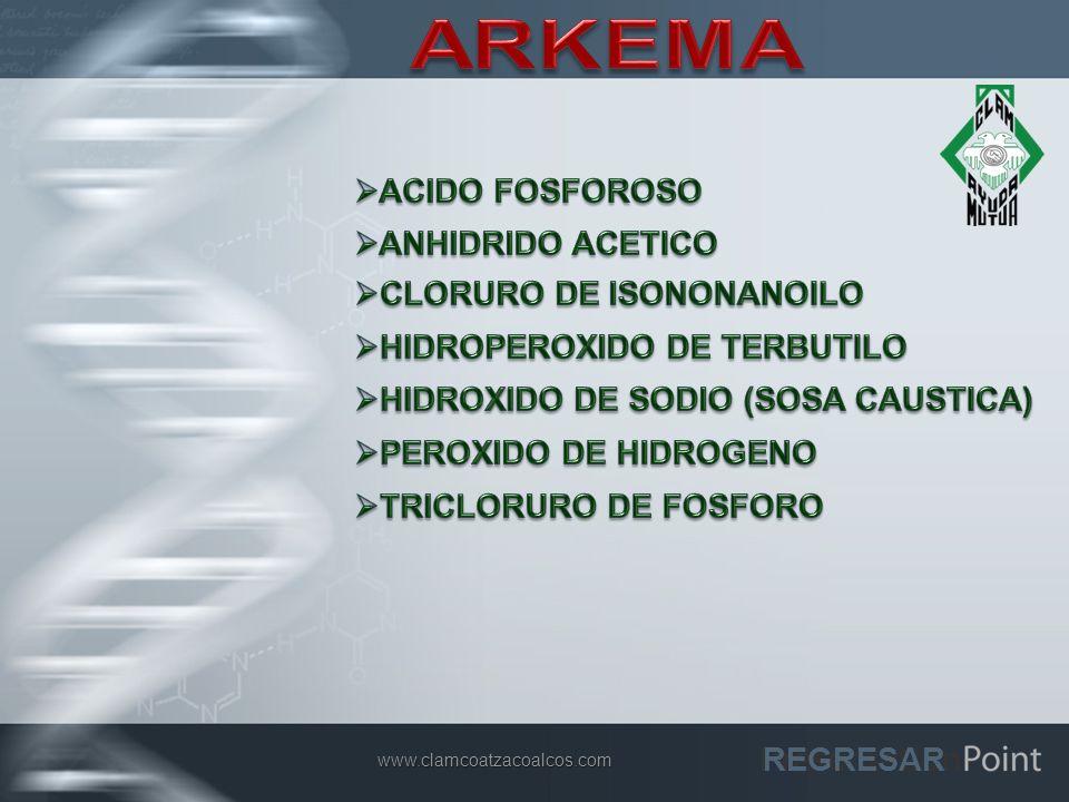 ARKEMA ACIDO FOSFOROSO ANHIDRIDO ACETICO CLORURO DE ISONONANOILO