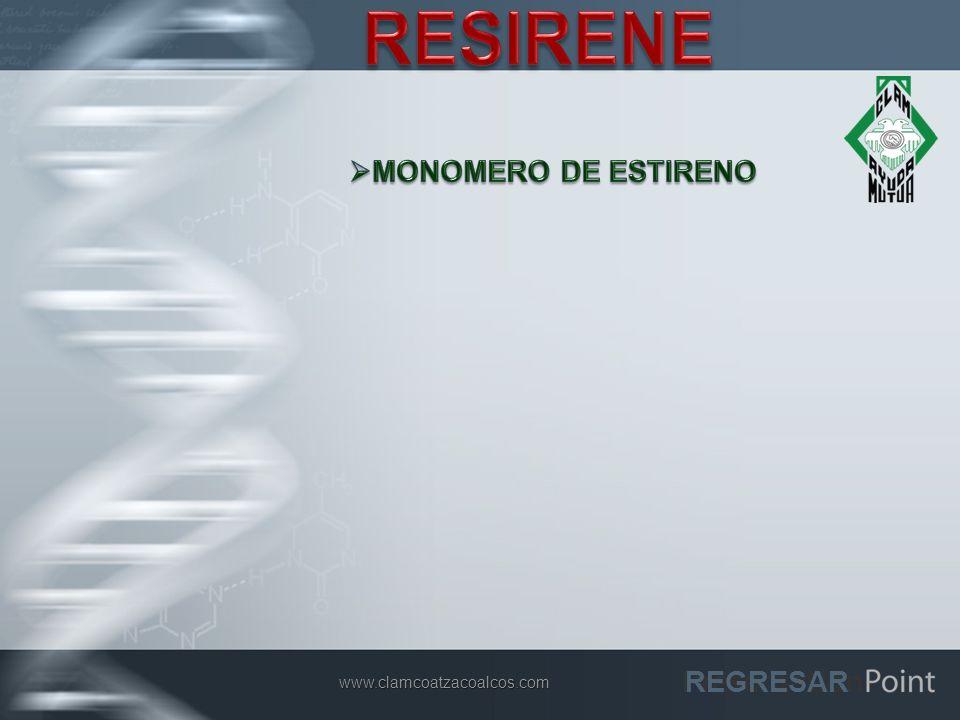 RESIRENE MONOMERO DE ESTIRENO REGRESAR www.clamcoatzacoalcos.com