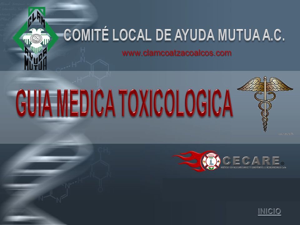 COMITÉ LOCAL DE AYUDA MUTUA A.C. GUIA MEDICA TOXICOLOGICA