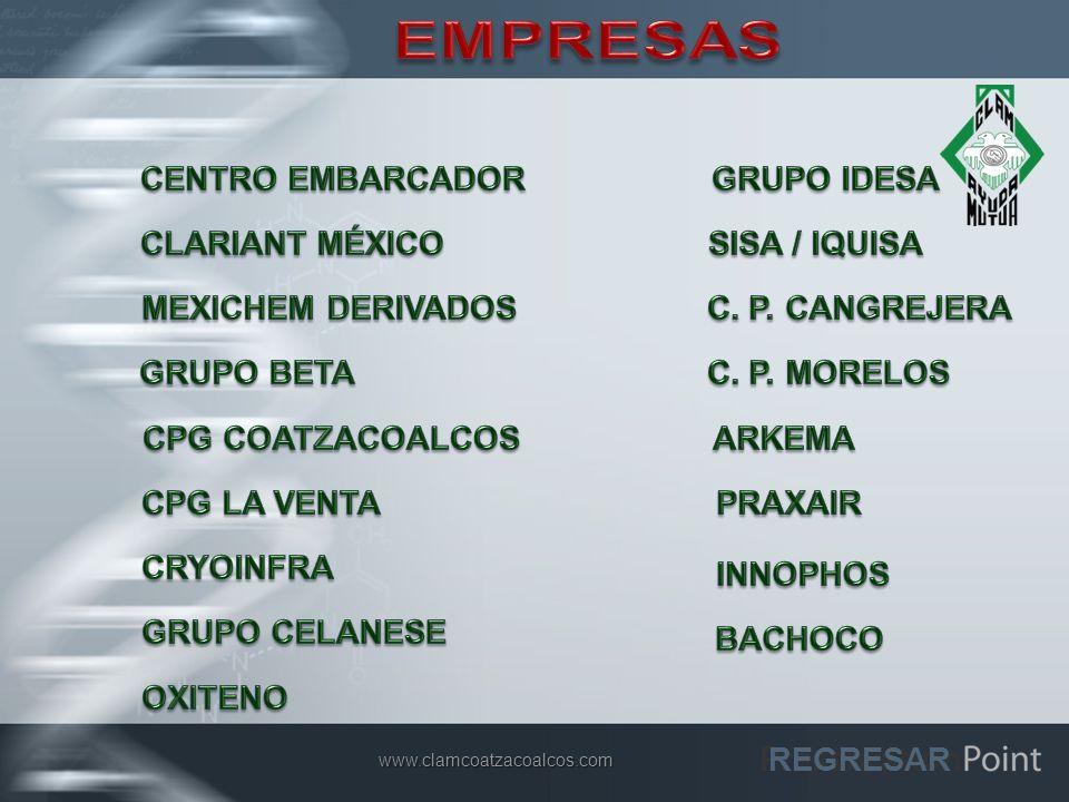 EMPRESAS CENTRO EMBARCADOR GRUPO IDESA CLARIANT MÉXICO SISA / IQUISA