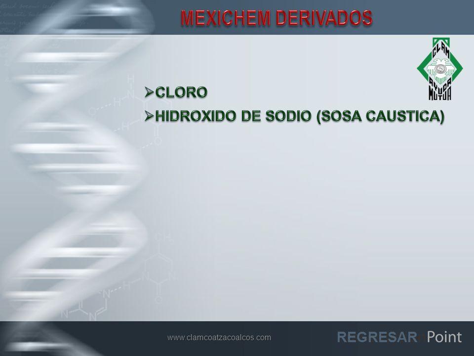 MEXICHEM DERIVADOS CLORO HIDROXIDO DE SODIO (SOSA CAUSTICA) REGRESAR