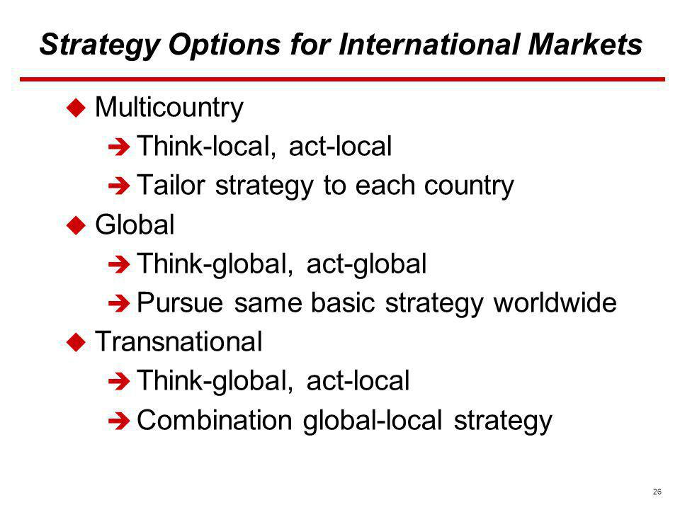26 options strategies