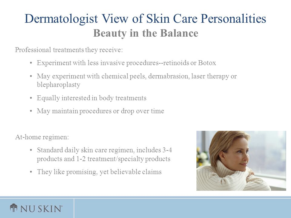 Dermatologist View of Skin Care Personalities