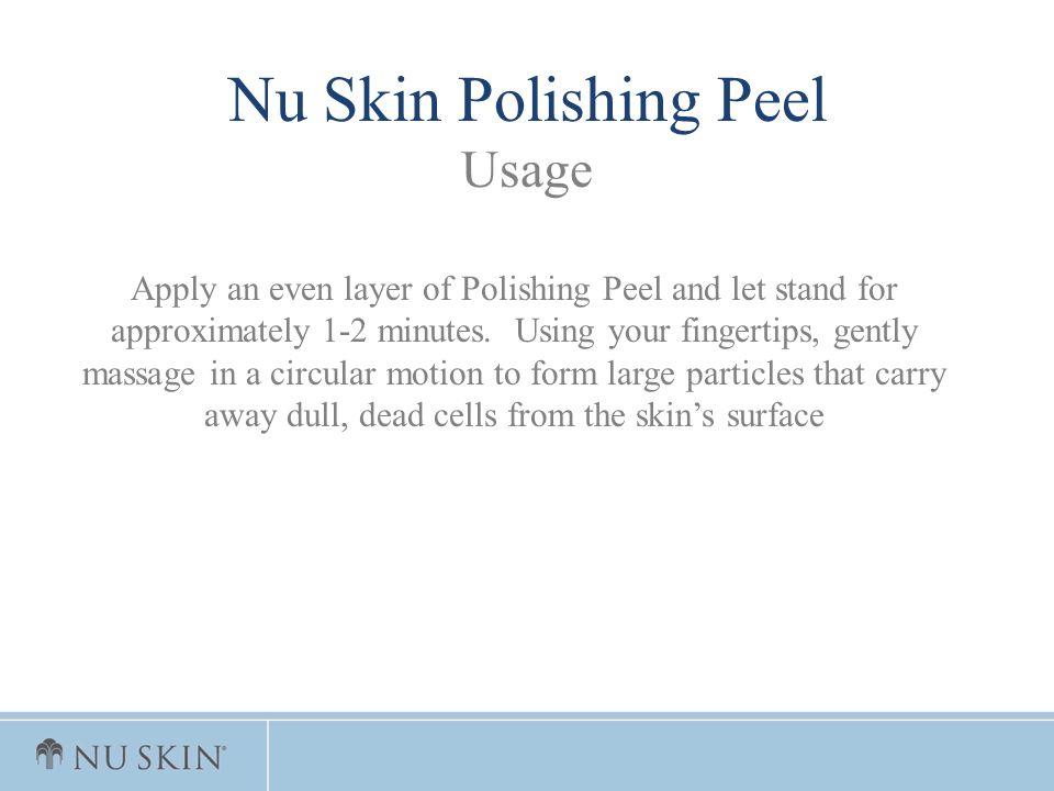 Nu Skin Polishing Peel Usage