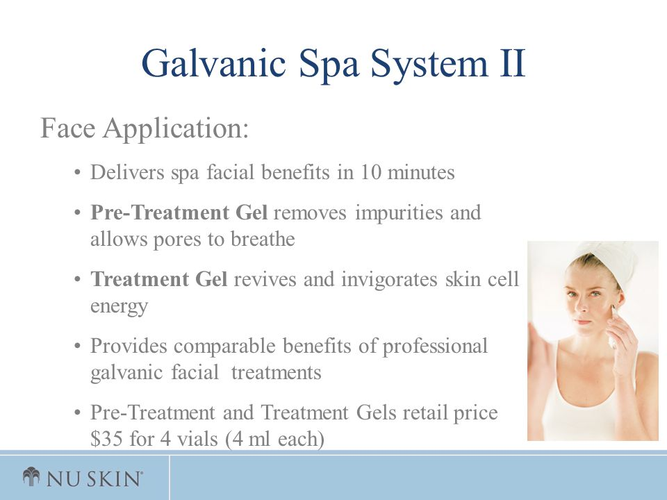 Galvanic Spa System II Face Application: