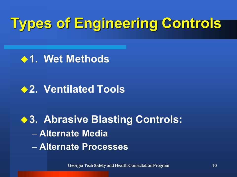 Types of Engineering Controls