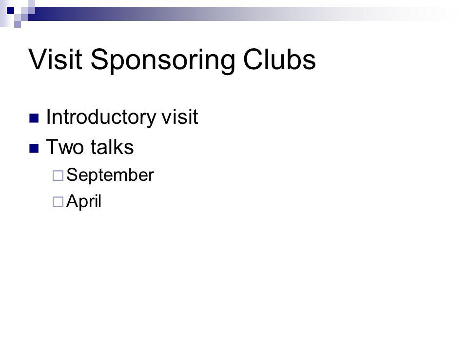 Visit Sponsoring Clubs