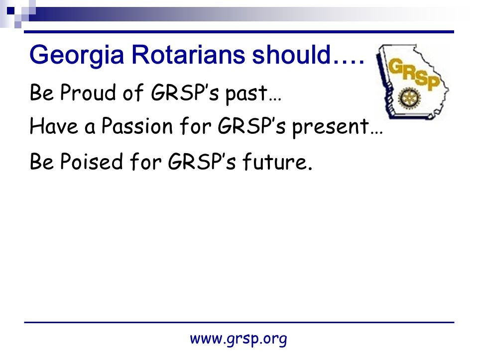 Georgia Rotarians should….