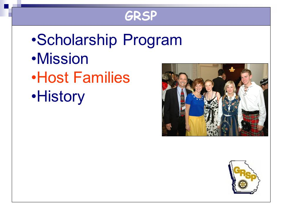 GRSP Scholarship Program Mission Host Families History