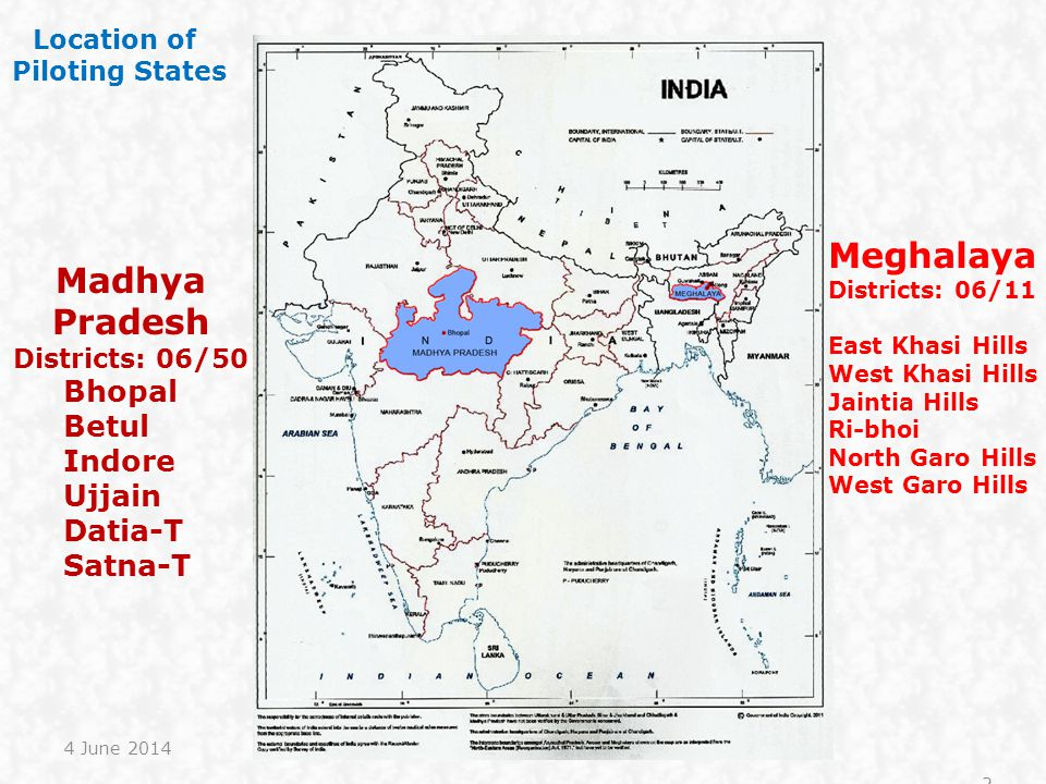 Meghalaya Madhya Pradesh Bhopal Betul Indore Ujjain Datia-T Satna-T