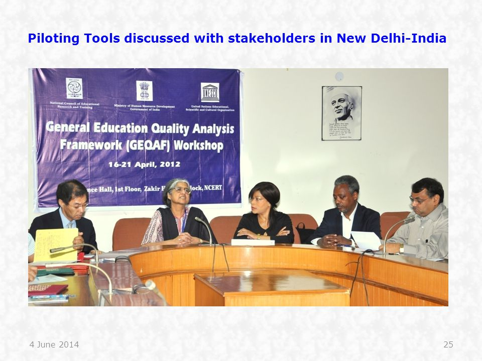 Piloting Tools discussed with stakeholders in New Delhi-India