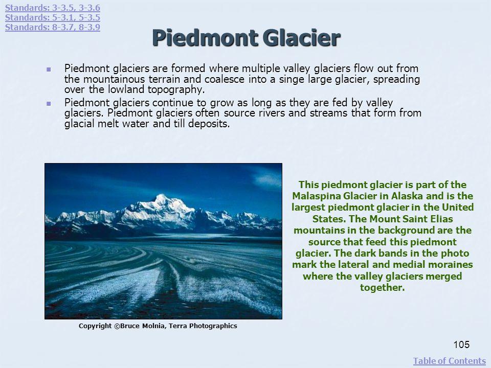 Standards: 3-3.5, 3-3.6 Standards: 5-3.1, 5-3.5. Standards: 8-3.7, 8-3.9. Piedmont Glacier.