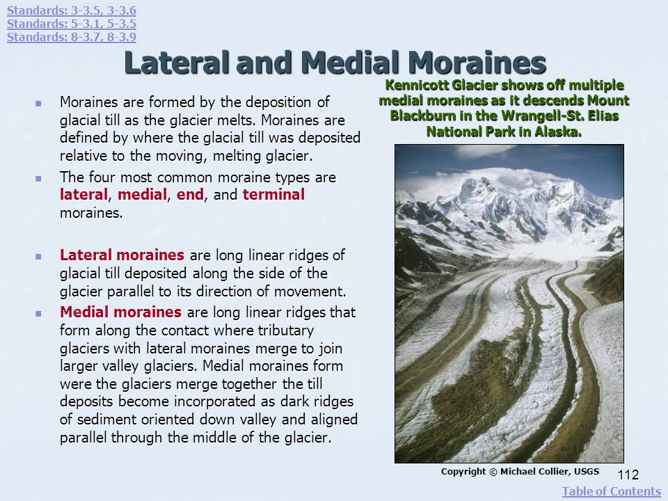 Lateral and Medial Moraines
