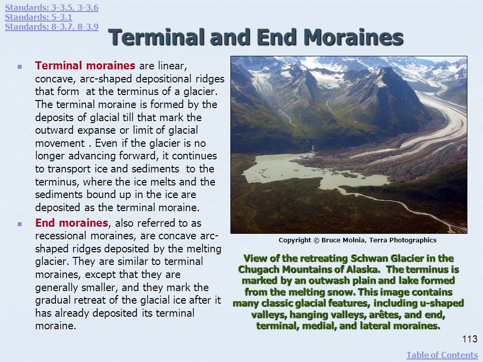 Terminal and End Moraines
