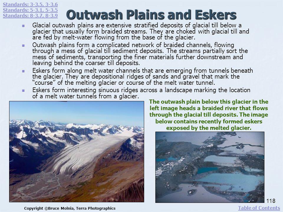 Outwash Plains and Eskers