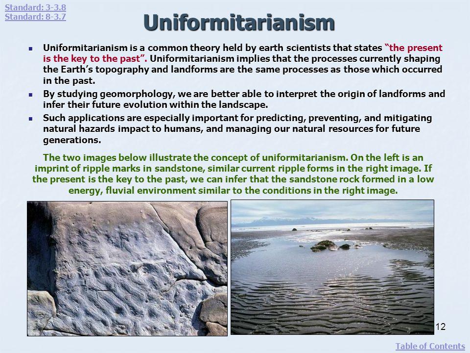 Standard: 3-3.8 Standard: 8-3.7. Uniformitarianism.