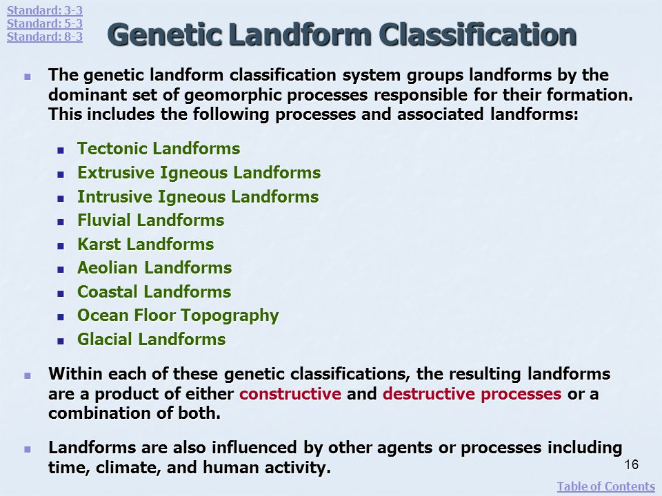 Genetic Landform Classification