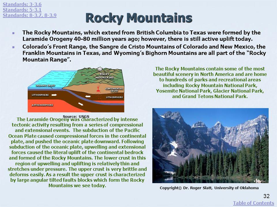 Standards: 3-3.6 Standards: 5-3.1. Standards: 8-3.7, 8-3.9. Rocky Mountains.