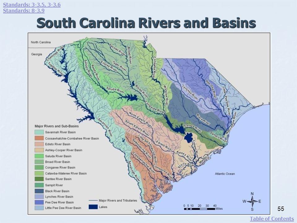 South Carolina Rivers and Basins