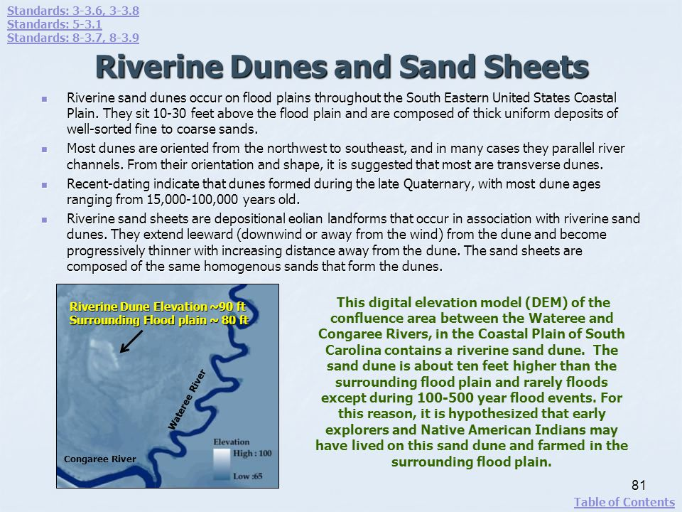 Riverine Dunes and Sand Sheets