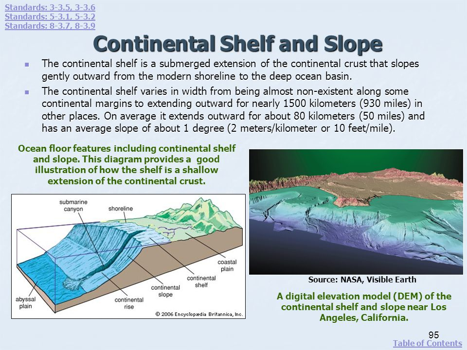Continental Shelf and Slope