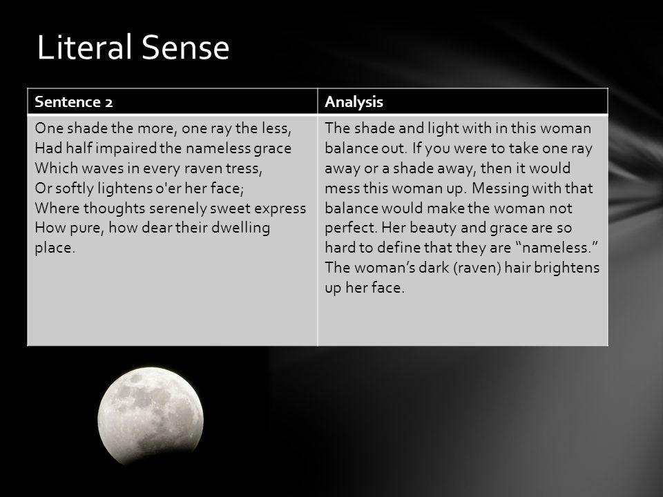 Literal Sense Sentence 2 Analysis