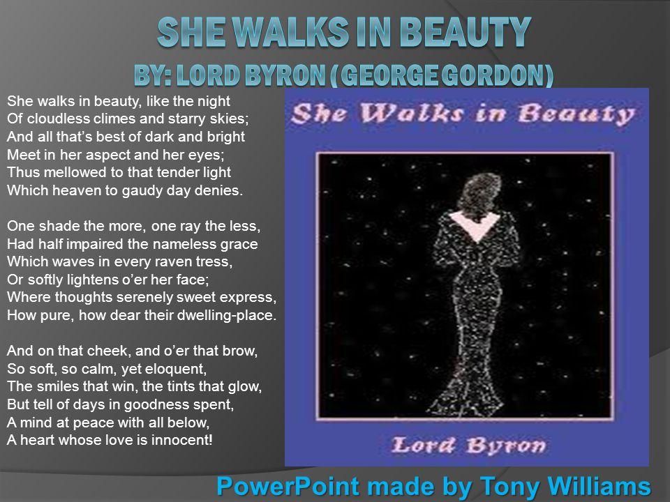 lord byron she walks in beauty
